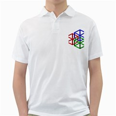 Impossible Cubes Red Green Blue Golf Shirts