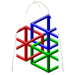 Impossible Cubes Red Green Blue Full Print Aprons