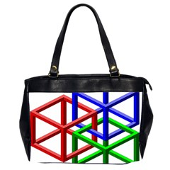 Impossible Cubes Red Green Blue Office Handbags (2 Sides)