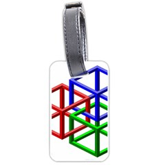 Impossible Cubes Red Green Blue Luggage Tags (Two Sides)