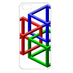 Impossible Cubes Red Green Blue Apple iPhone 5 Seamless Case (White)