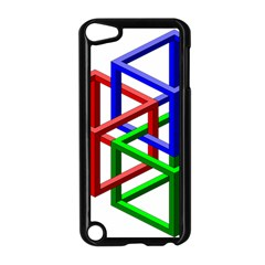 Impossible Cubes Red Green Blue Apple iPod Touch 5 Case (Black)