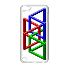 Impossible Cubes Red Green Blue Apple iPod Touch 5 Case (White)