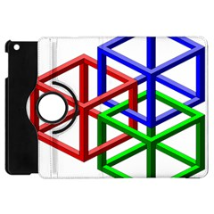 Impossible Cubes Red Green Blue Apple iPad Mini Flip 360 Case