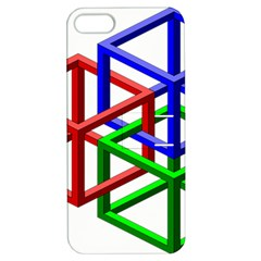 Impossible Cubes Red Green Blue Apple iPhone 5 Hardshell Case with Stand