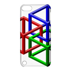 Impossible Cubes Red Green Blue Apple iPod Touch 5 Hardshell Case with Stand