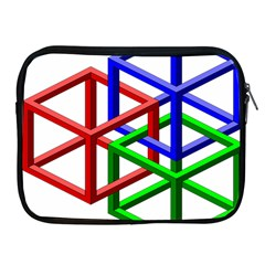 Impossible Cubes Red Green Blue Apple Ipad 2/3/4 Zipper Cases