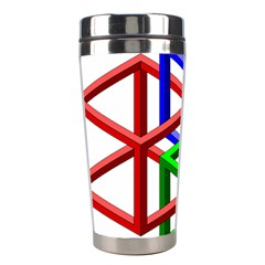 Impossible Cubes Red Green Blue Stainless Steel Travel Tumblers