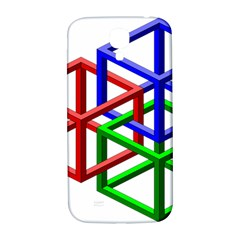 Impossible Cubes Red Green Blue Samsung Galaxy S4 I9500/I9505  Hardshell Back Case