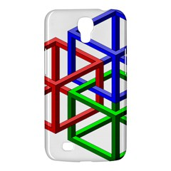 Impossible Cubes Red Green Blue Samsung Galaxy Mega 6.3  I9200 Hardshell Case