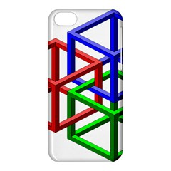 Impossible Cubes Red Green Blue Apple iPhone 5C Hardshell Case