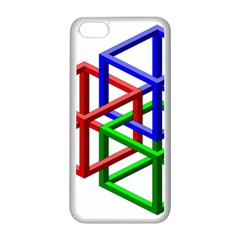 Impossible Cubes Red Green Blue Apple iPhone 5C Seamless Case (White)