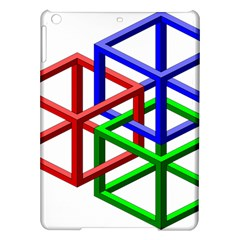 Impossible Cubes Red Green Blue iPad Air Hardshell Cases