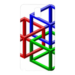 Impossible Cubes Red Green Blue Samsung Galaxy Note 3 N9005 Hardshell Back Case