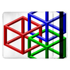 Impossible Cubes Red Green Blue Samsung Galaxy Tab Pro 12.2  Flip Case