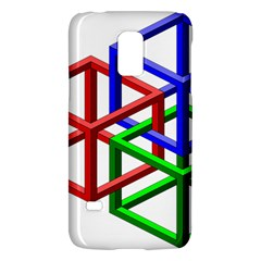 Impossible Cubes Red Green Blue Galaxy S5 Mini