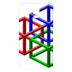 Impossible Cubes Red Green Blue Galaxy Note 4 Back Case