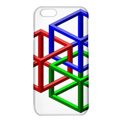 Impossible Cubes Red Green Blue iPhone 6/6S TPU Case