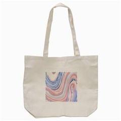 Marble Abstract Texture With Soft Pastels Colors Blue Pink Grey Tote Bag (Cream)