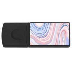 Marble Abstract Texture With Soft Pastels Colors Blue Pink Grey USB Flash Drive Rectangular (4 GB)