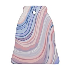 Marble Abstract Texture With Soft Pastels Colors Blue Pink Grey Ornament (Bell)