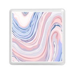 Marble Abstract Texture With Soft Pastels Colors Blue Pink Grey Memory Card Reader (Square)
