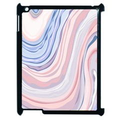 Marble Abstract Texture With Soft Pastels Colors Blue Pink Grey Apple iPad 2 Case (Black)