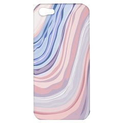 Marble Abstract Texture With Soft Pastels Colors Blue Pink Grey Apple iPhone 5 Hardshell Case