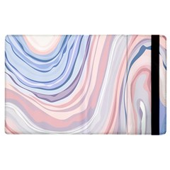 Marble Abstract Texture With Soft Pastels Colors Blue Pink Grey Apple iPad 2 Flip Case
