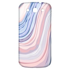 Marble Abstract Texture With Soft Pastels Colors Blue Pink Grey Samsung Galaxy S3 S III Classic Hardshell Back Case