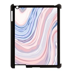 Marble Abstract Texture With Soft Pastels Colors Blue Pink Grey Apple iPad 3/4 Case (Black)