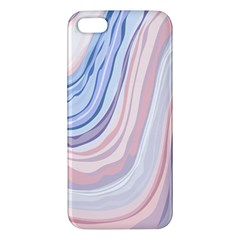 Marble Abstract Texture With Soft Pastels Colors Blue Pink Grey Apple iPhone 5 Premium Hardshell Case