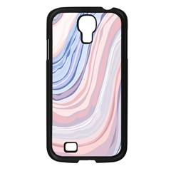 Marble Abstract Texture With Soft Pastels Colors Blue Pink Grey Samsung Galaxy S4 I9500/ I9505 Case (Black)