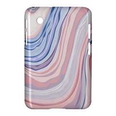 Marble Abstract Texture With Soft Pastels Colors Blue Pink Grey Samsung Galaxy Tab 2 (7 ) P3100 Hardshell Case