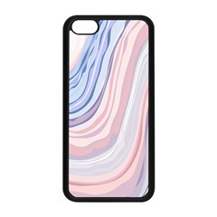 Marble Abstract Texture With Soft Pastels Colors Blue Pink Grey Apple iPhone 5C Seamless Case (Black)