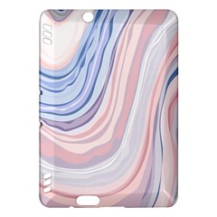 Marble Abstract Texture With Soft Pastels Colors Blue Pink Grey Kindle Fire HDX Hardshell Case