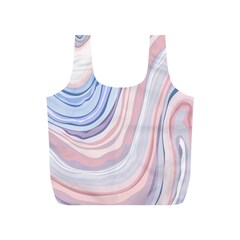 Marble Abstract Texture With Soft Pastels Colors Blue Pink Grey Full Print Recycle Bags (s)