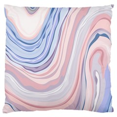 Marble Abstract Texture With Soft Pastels Colors Blue Pink Grey Large Flano Cushion Case (Two Sides)