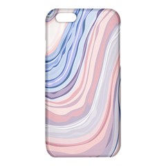Marble Abstract Texture With Soft Pastels Colors Blue Pink Grey iPhone 6/6S TPU Case