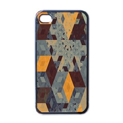 Apophysis Isometric Tessellation Orange Cube Fractal Triangle Apple iPhone 4 Case (Black)