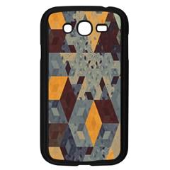Apophysis Isometric Tessellation Orange Cube Fractal Triangle Samsung Galaxy Grand DUOS I9082 Case (Black)