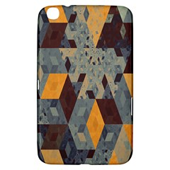Apophysis Isometric Tessellation Orange Cube Fractal Triangle Samsung Galaxy Tab 3 (8 ) T3100 Hardshell Case
