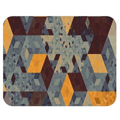 Apophysis Isometric Tessellation Orange Cube Fractal Triangle Double Sided Flano Blanket (Medium)
