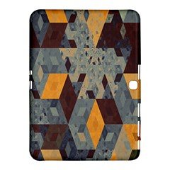Apophysis Isometric Tessellation Orange Cube Fractal Triangle Samsung Galaxy Tab 4 (10.1 ) Hardshell Case
