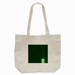 Mug Green Hot Tea Coffe Tote Bag (cream)