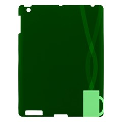Mug Green Hot Tea Coffe Apple iPad 3/4 Hardshell Case