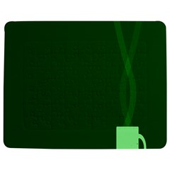 Mug Green Hot Tea Coffe Jigsaw Puzzle Photo Stand (Rectangular)