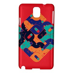 Plaid Red Sign Orange Blue Samsung Galaxy Note 3 N9005 Hardshell Case
