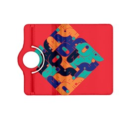 Plaid Red Sign Orange Blue Kindle Fire HD (2013) Flip 360 Case