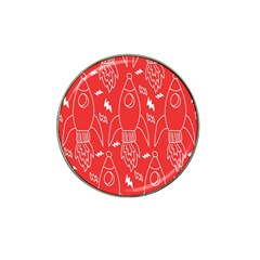 Moon Red Rocket Space Hat Clip Ball Marker